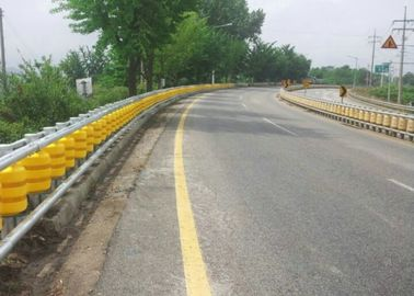 China Rotating Guardrail Rolling Guard Barrier , Elastic Roller Barrier System supplier