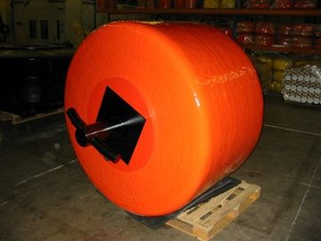 1500kg Nett Buoyancy Boat Mooring Buoy , Cylindrical Pendant Surplus Steel Buoys