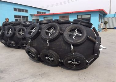 Customized Natural Pneumatic Marine Fender Durable With Chain And Tire Net