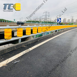 China 0.35m Diameter Road Guardrail EVA Safety Roller Barrier supplier