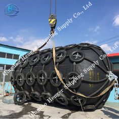 Long Lifespan Boat Mooring Fenders Marine Boat Fenders With Chain Black Color