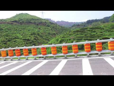 Road Traffic Highway Guardrail Safety Roller Barrier