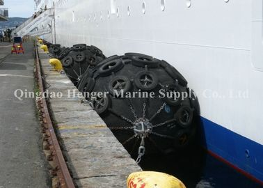 China Anti - Aging Natural Rubber Floating Marine Rubber Fender With Chain Net factory