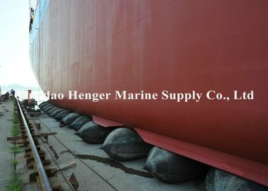 China High Buoyancy Force Heavy Lift Air Bags , Vessel Salvage Boat Lift Air Bags factory