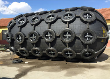 China Pneumatic Floating Nature Rubber Fender Galvanized Tyre Chain Net Anti Corrosion factory